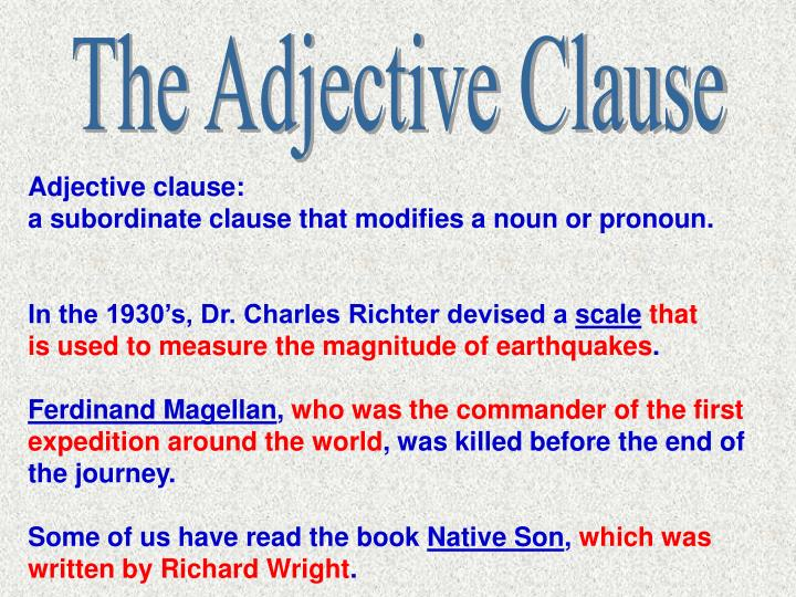 The Adjective Clause