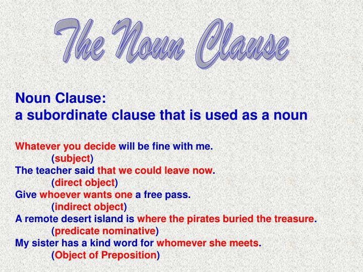 The Noun Clause