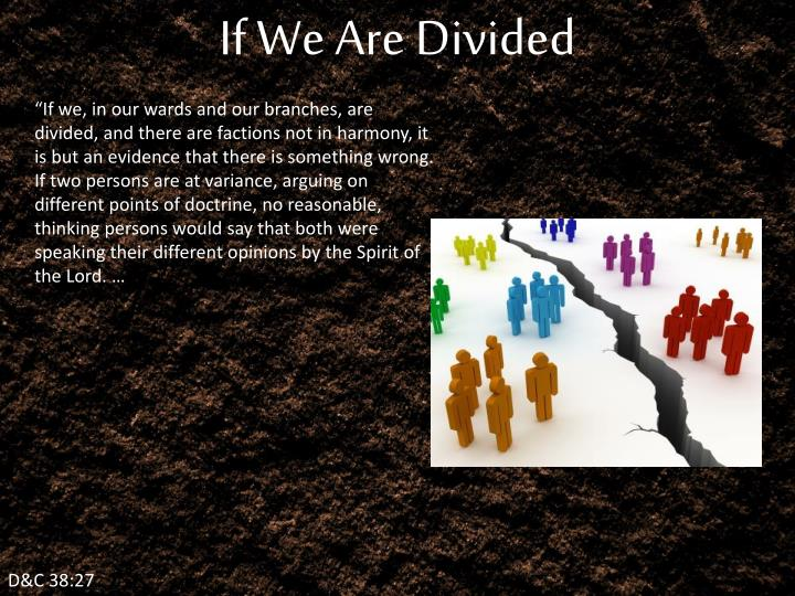 If We Are Divided