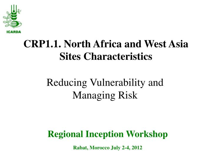 Crp1 1 north africa and west asia sites characteristics