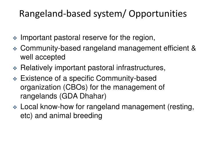 Rangeland-based system/