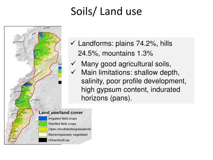 Soils/ Land use