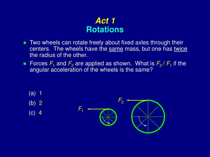 Act 1 rotations