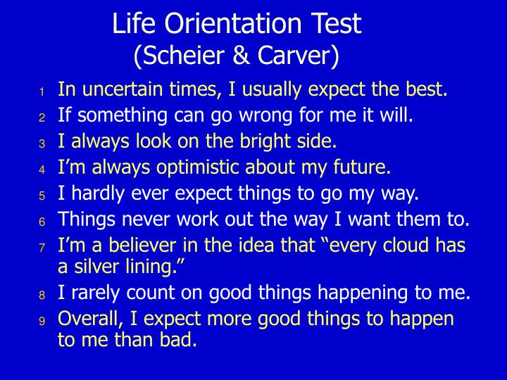 Life Orientation Test