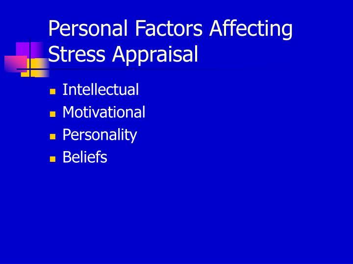 Personal Factors Affecting Stress Appraisal