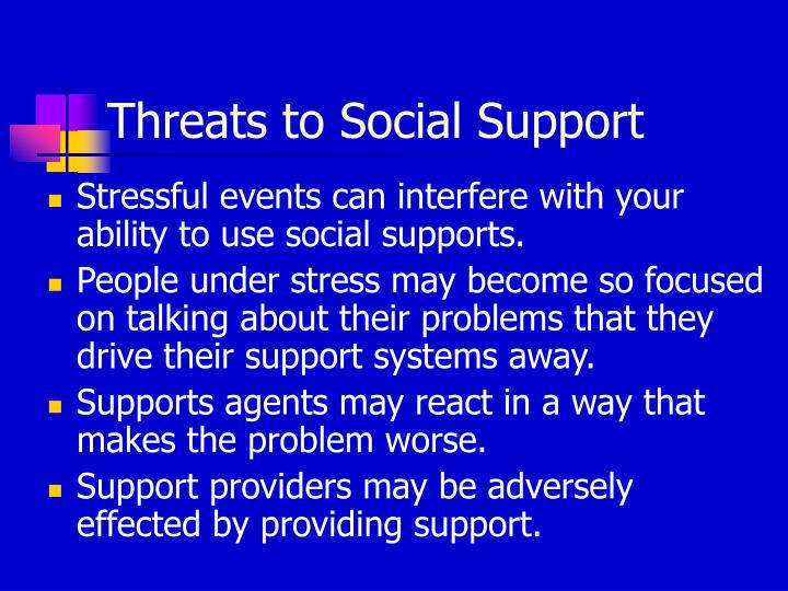 Threats to Social Support