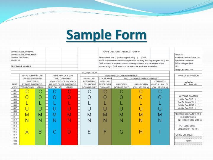 Sample form