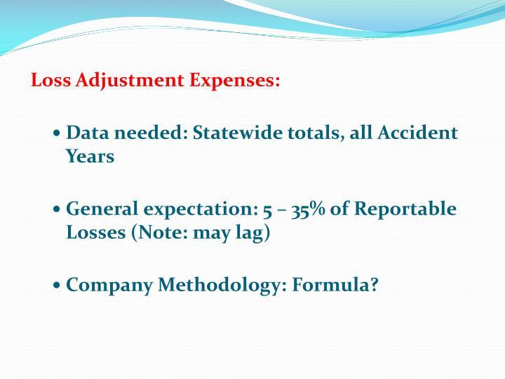 Loss Adjustment Expenses:
