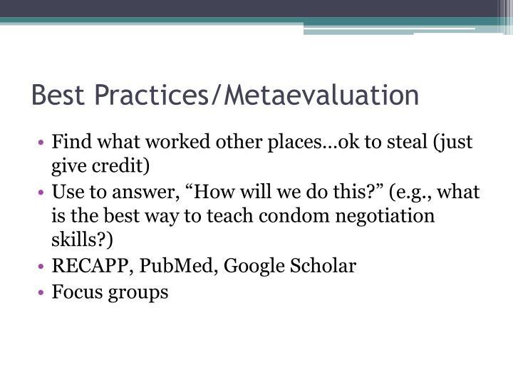 Best Practices/