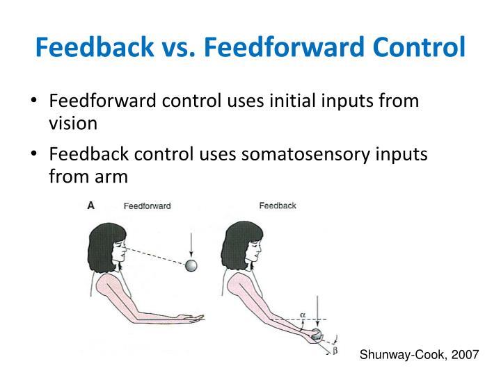Feedback vs. Feedforward Control