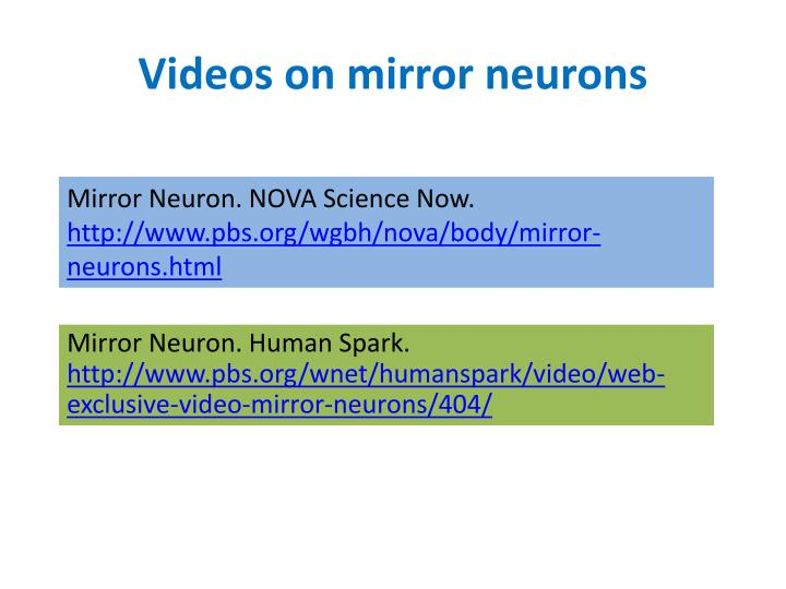 Videos on mirror neurons