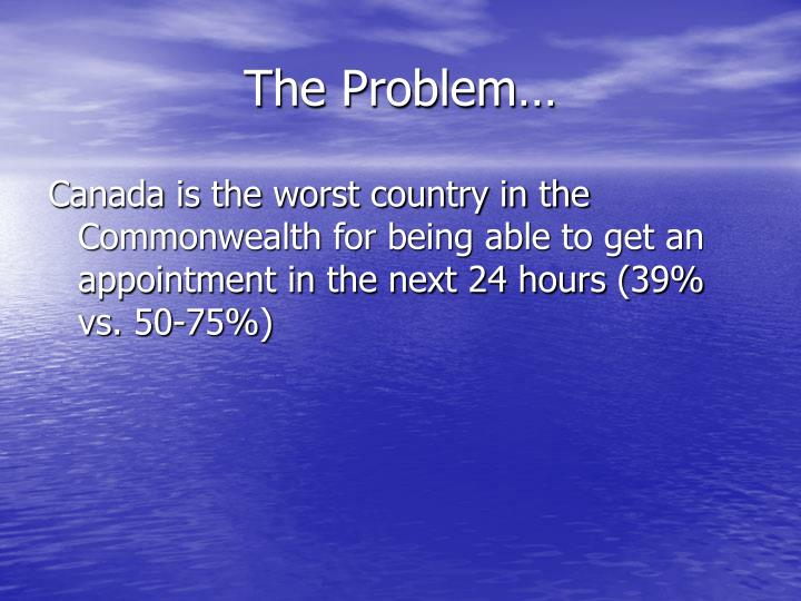 The Problem…