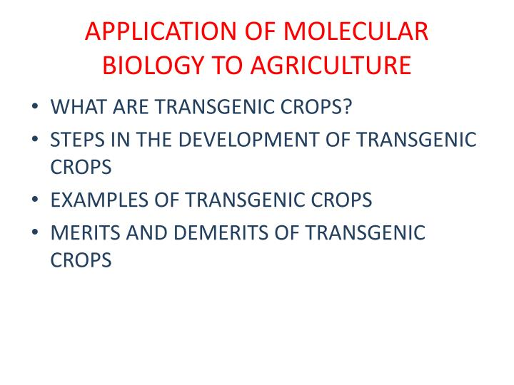 ppt - application of molecular biology to agriculture powerpoint, Presentation templates