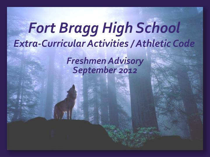 fort bragg high school extra curricular activities athletic code