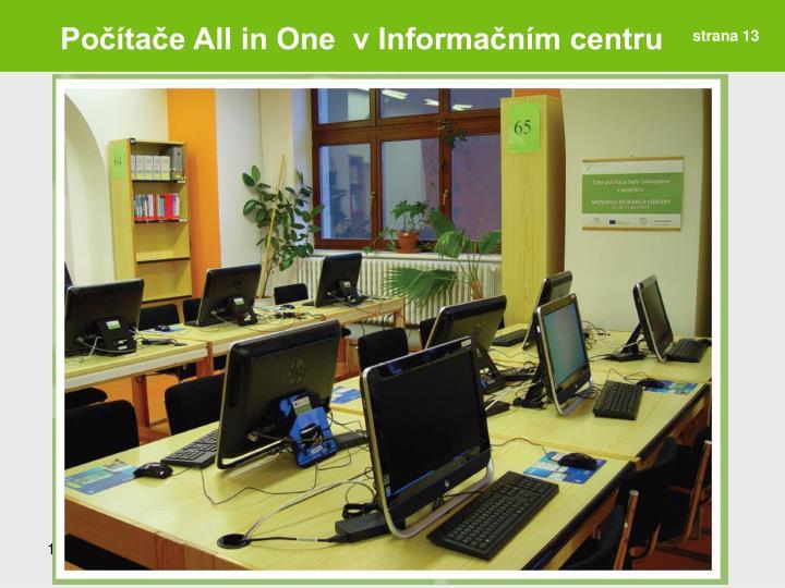 Počítače All in One  v Informačním centru