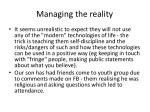 managing the reality