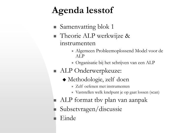 Agenda lesstof