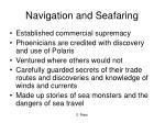 navigation and seafaring