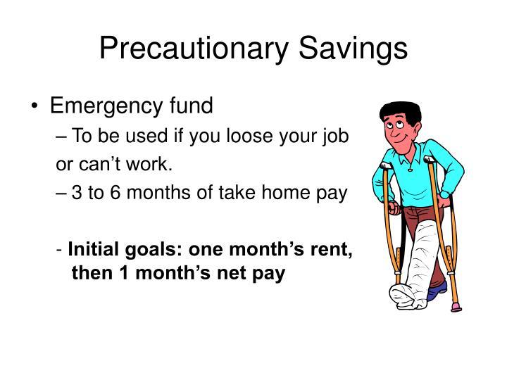 Precautionary Savings