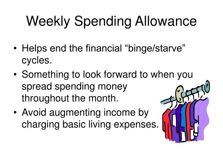Weekly Spending Allowance