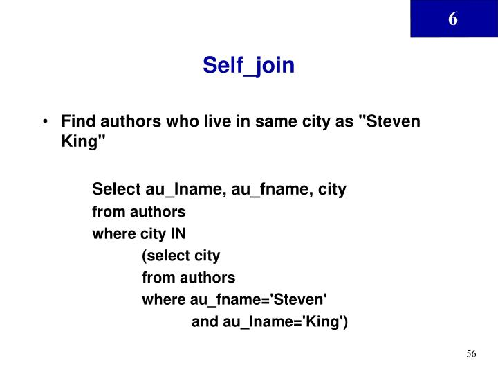 Self_join