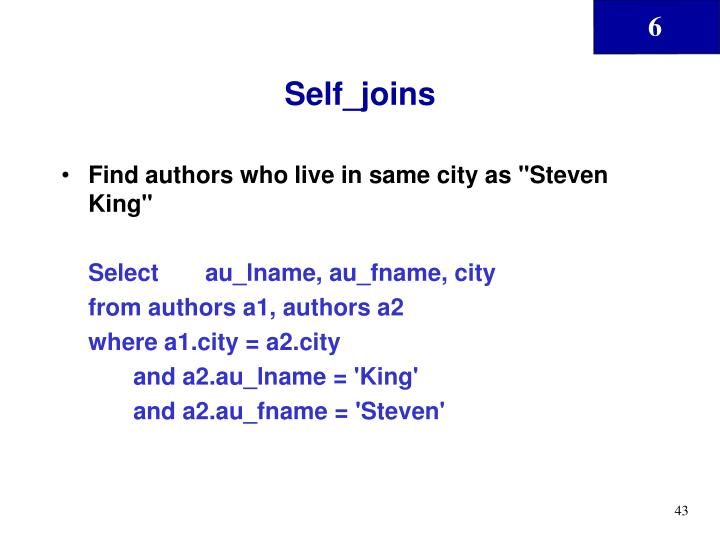 Self_joins
