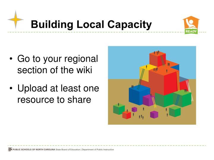 Building Local Capacity