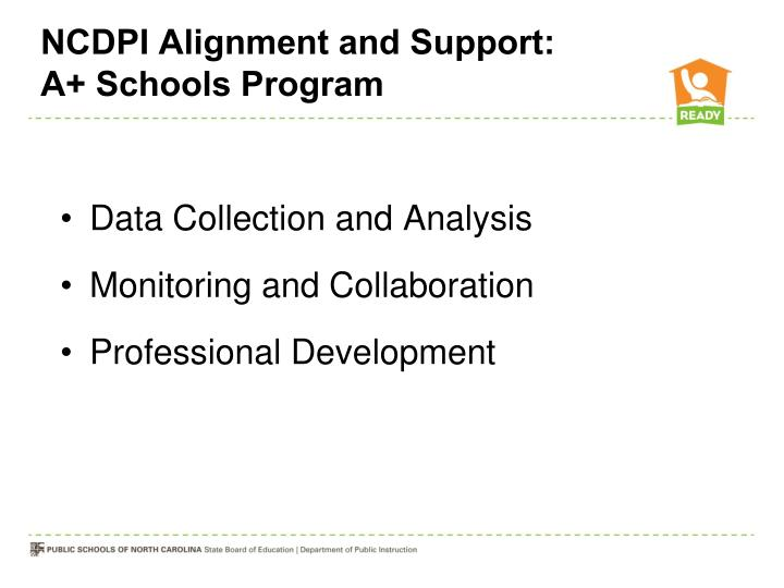 NCDPI Alignment and Support: