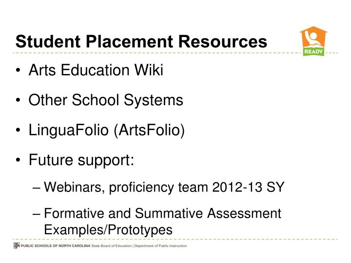 Student Placement Resources