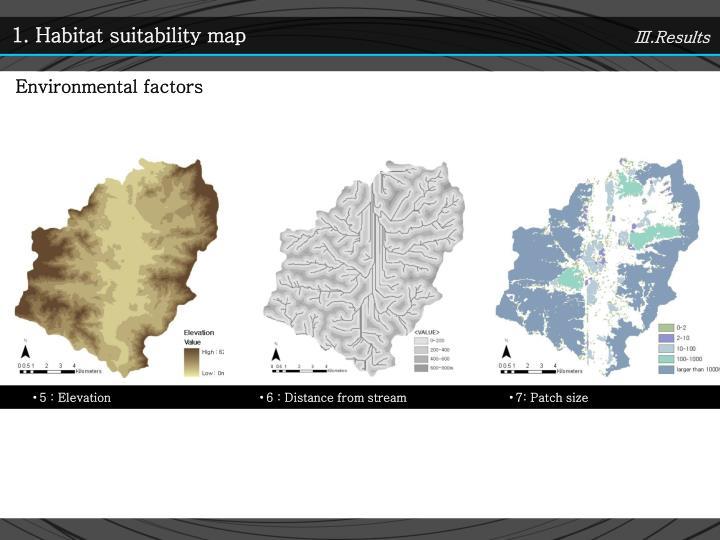 1. Habitat suitability map