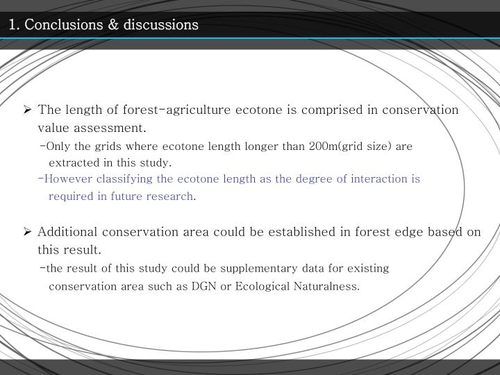 1. Conclusions & discussions
