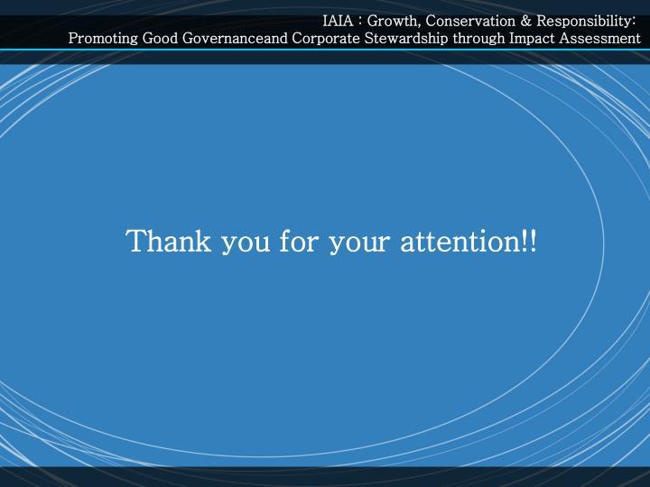 IAIA : Growth, Conservation & Responsibility:
