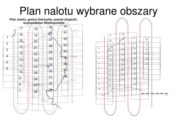 Plan nalotu wybrane obszary