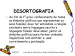 disortografia