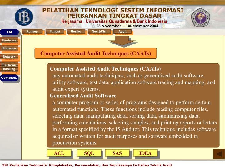 Computer Assisted Audit Techniques (CAATs)