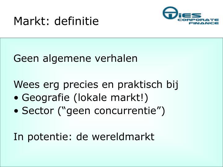 Markt: definitie