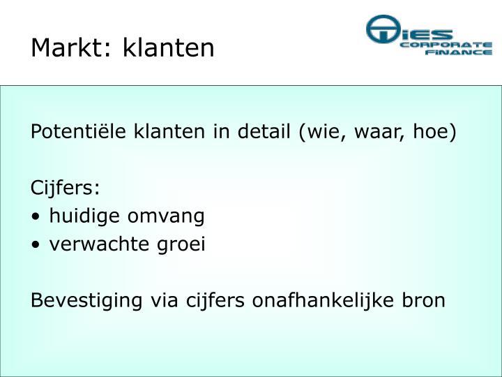 Markt: klanten