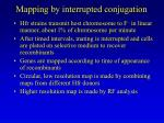mapping by interrupted conjugation