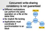 concurrent write sharing consistency is not guaranteed