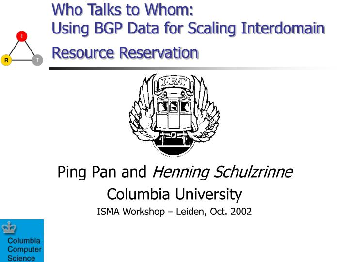 who talks to whom using bgp data for scaling interdomain resource reservation n.
