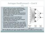 jaringan feedforward cont d