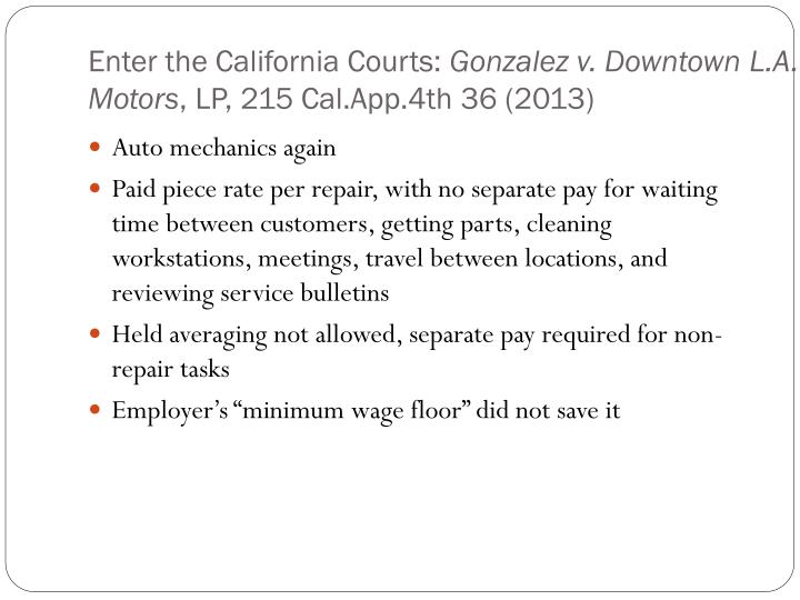 Enter the California Courts: