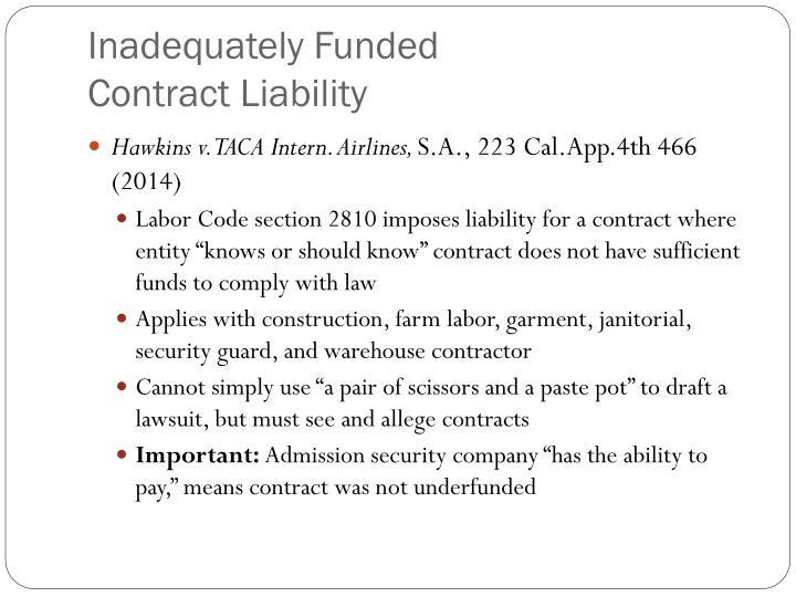 Inadequately Funded