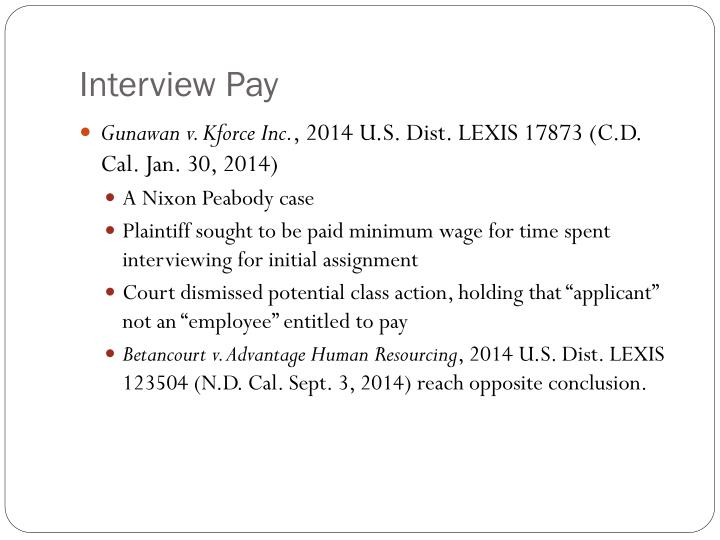 Interview Pay