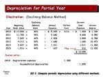 depreciation for partial year4