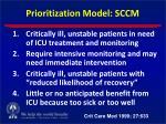 prioritization model sccm