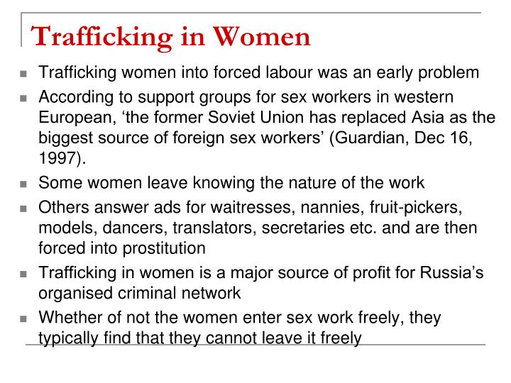 Trafficking in Women