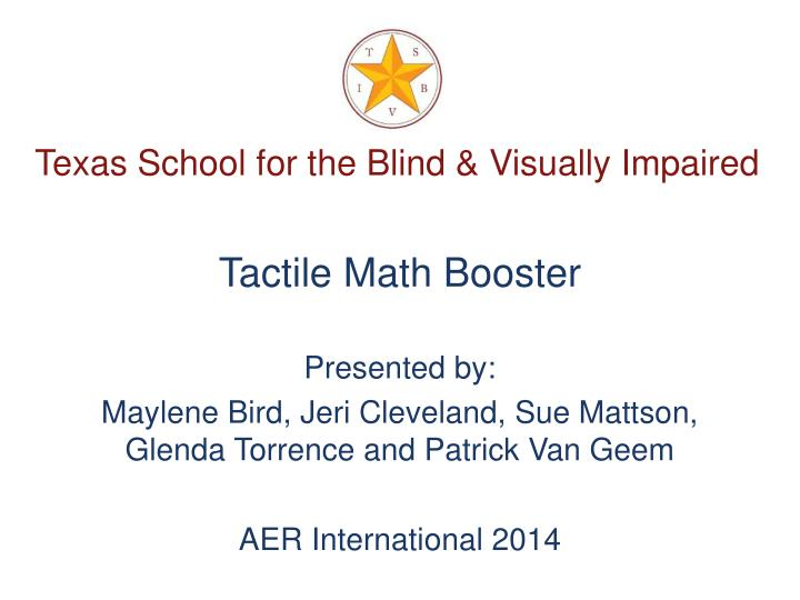 Texas school for the blind visually impaired