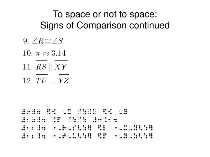 To space or not to space: