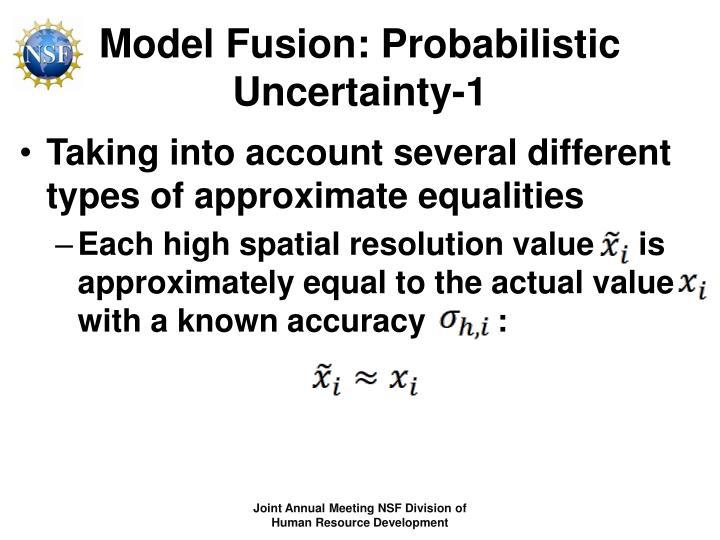 Model Fusion: Probabilistic Uncertainty-1